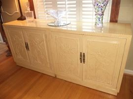 Henredon contemporary console cabinets- sold as a set only; perfect condition