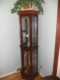 5 tier lighted curio