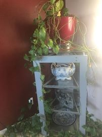 Corner stand with plant and other accessories $ 50:00
