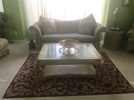 Gorgeous sofa and table amazing color with mirror$300:00