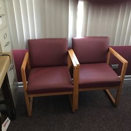 Leather chairs$13:00each 12 in amount great look for business area