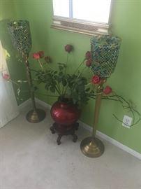 Mirror flower vase $15:90