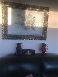 Beautiful large art with accessory and end table Art $35, Accessory $ 5 each and end table $20:00