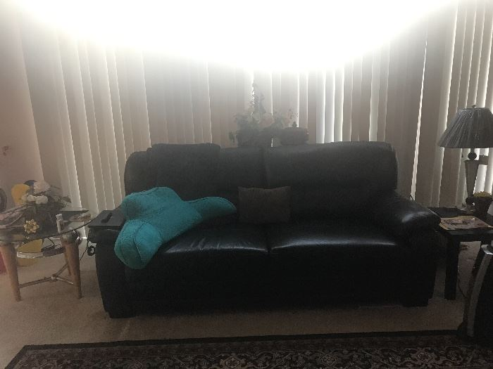 Leather love seat costco brand