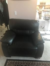 Leather chair $200:00 very compy