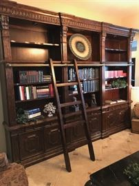 Stunning 12' library wall with ladder
