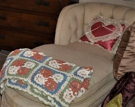 1950s style Bedroom Chaise Lounge,