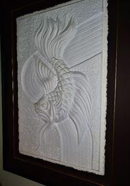 3D PapierMache Koi Sculpture