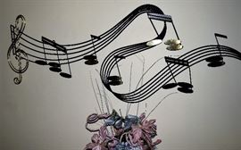 Curtis Jere RAPSODY Metal Wall Sculpture  Signed and Dated