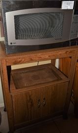 GE Profile Stainless Steel Microwave, Microvewave Portable Stand with Stoage