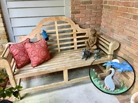 Wooden Bench - Garden Decor