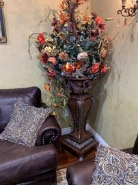 Large floor vase with flowers $259