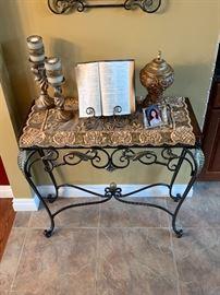 Iron sofa table! Wood top! $149