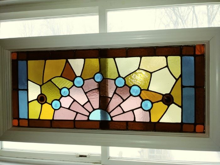 Several stained glass windows for sale