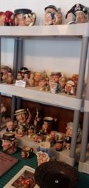 Huge lot of Royal Doulton Tobies left