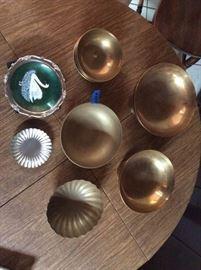 PAC004 Korean Beaten Brass Wares & Silver Toned Plates