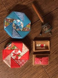 PAC007 Origami Boxes, Old Metal Instrument & Japanese Bathroom Kit