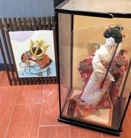 PAC008 Vintage Japanese Geisha Doll in Case