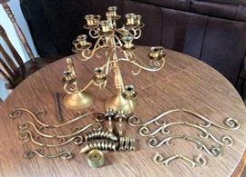 PAC010 Bronze Candle Holder Set