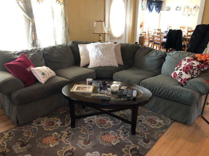 Sectional Sofa, Coffee Table