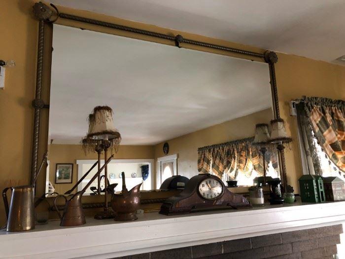 Mirror, Clock, Copper Ware