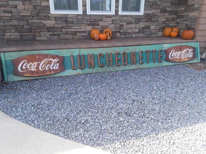 Coca Cola Luncheonette Sign
