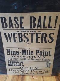 RARE 1900 Baseball Poster