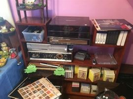 Record player, 8 track player/ radio