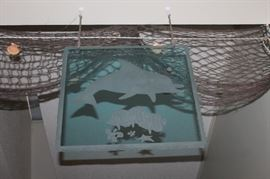 Dolphin Etched Glass