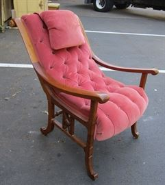 Victorian sleigh back arm chair