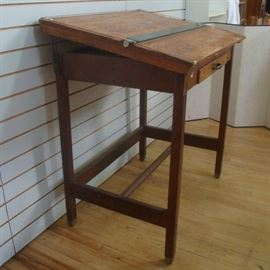 Architect's Drafting Table, Industrial Style, circa 1940