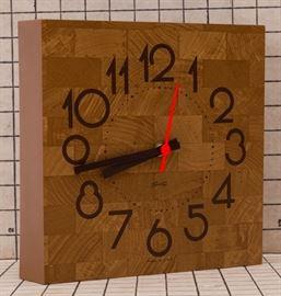 MCM Kitchen Wall Clock, Spartus