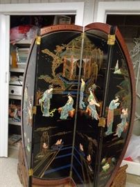 4 panel screen w/mother of pearl