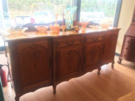 Massive Oak Sideboard