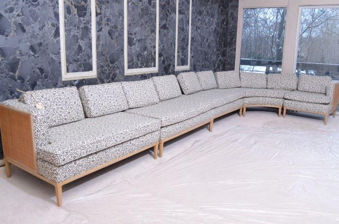 MCM couch 32 in deep 26 in height 193 in long side piece is 75 in wide $2000 5 PC couch