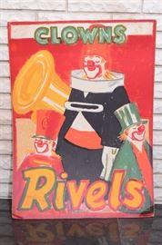 "Stockmarr circus posters original $200 ea 24 in by 33 in ""clowns rivels"" "" benneweis de prestige berberlover"""