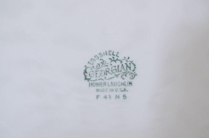 "Cream and gold serving player homes Laughlin eggshell ""Georgian"" $20"
