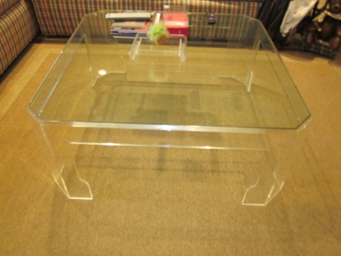 Signed Jeffrey Bigelow Lucite Tables