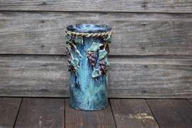 Grapevine Pottery Vase