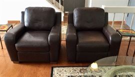 Chateau D' Ax fine leather club chairs.