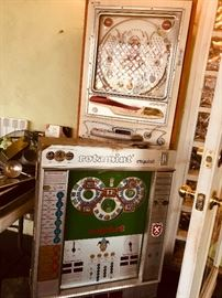 Antique Pinball Machine and Slot Machine