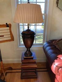 Crate & Barrel Pedestal Table (1 of 2), Lamp