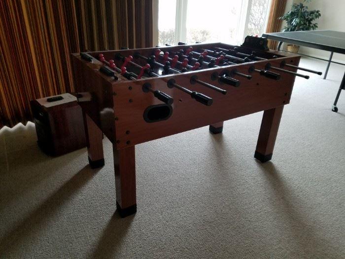 Foos ball table