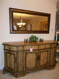 Beautiful console table with matching mirror