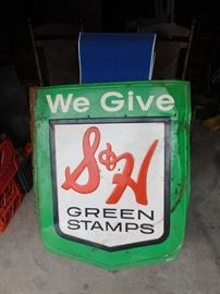 Old S&H Green Stamps Sign