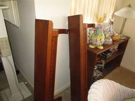 Pair of wood wall shelves