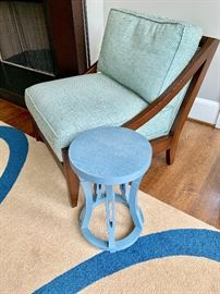 Hourglass side table.  13x13x20H