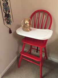painted high-chair