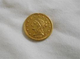 1861 2 1/2 Dollar Gold Piece
