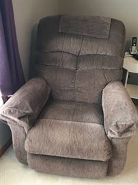Brown recliner.